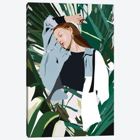 Blue Lady Canvas Print #AMK12} by Anna Mckay Canvas Art