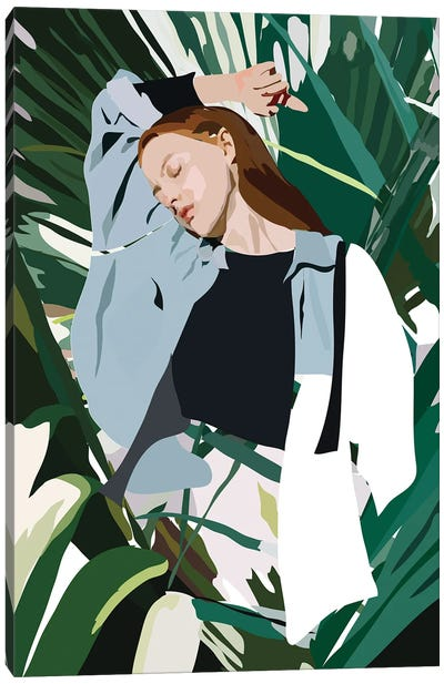 Blue Lady Canvas Art Print