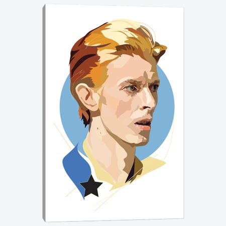 Bowie Starman Canvas Print #AMK13} by Anna Mckay Canvas Art