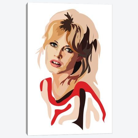 Brigitte Bardot Canvas Print #AMK14} by Anna Mckay Art Print