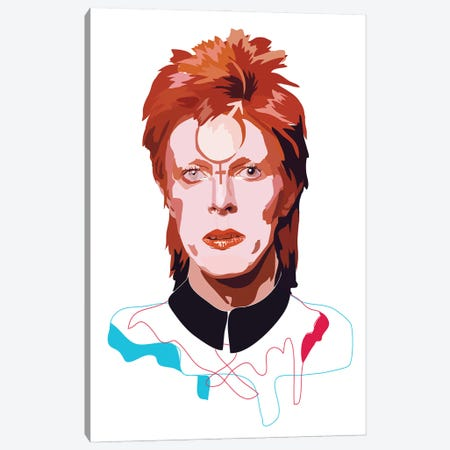 David Bowie Canvas Print #AMK15} by Anna Mckay Canvas Art Print
