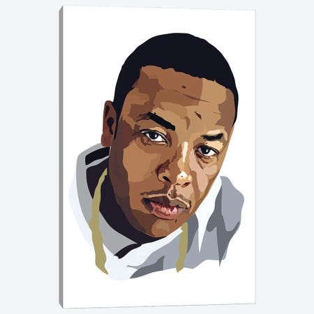 Dr Dre Canvas Print #AMK17} by Anna Mckay Canvas Print