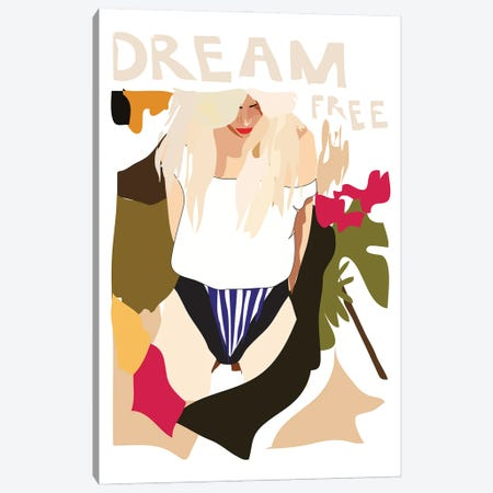 Dream Free Canvas Print #AMK18} by Anna Mckay Canvas Wall Art