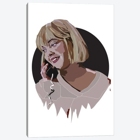 Drew Barrymore Scream Canvas Print #AMK19} by Anna Mckay Canvas Artwork