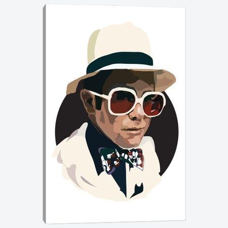 Elton John Canvas Print #AMK20} by Anna Mckay Canvas Art Print