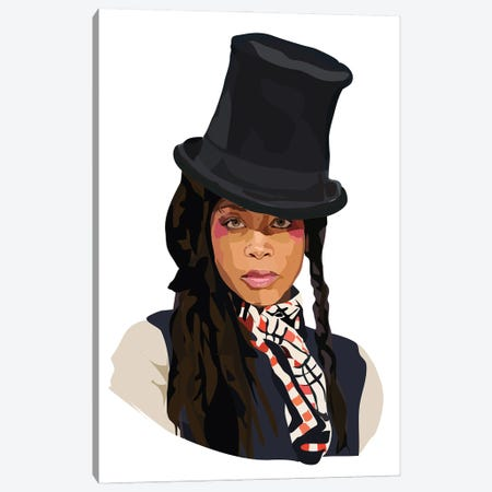 Erykah Badu Canvas Print #AMK21} by Anna Mckay Canvas Print