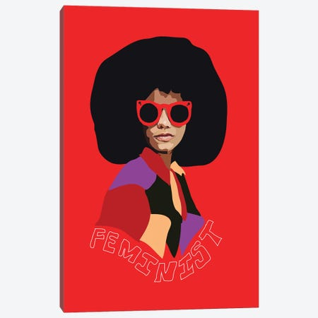 Feminist Afro Canvas Print #AMK22} by Anna Mckay Canvas Art Print