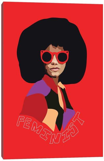 Feminist Afro Canvas Art Print