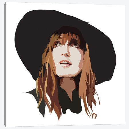 Florence Welch Canvas Print #AMK25} by Anna Mckay Canvas Artwork