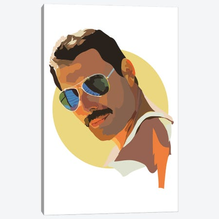 Freddie Mercury Canvas Print #AMK26} by Anna Mckay Canvas Wall Art