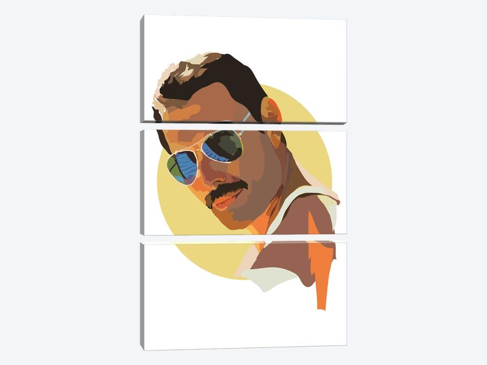 Freddie Mercury by Anna Mckay 3-piece Canvas Art