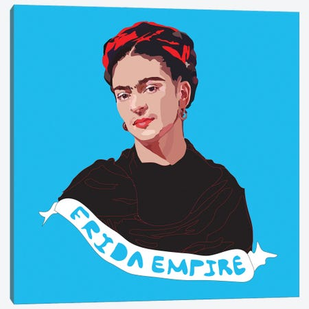 Frida Empire Canvas Print #AMK27} by Anna Mckay Canvas Wall Art