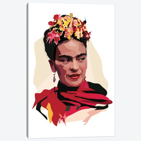 Frida Flowers Canvas Print #AMK28} by Anna Mckay Canvas Print
