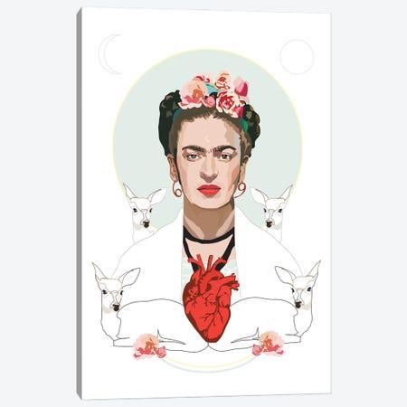 Frida Kahlo Canvas Print #AMK29} by Anna Mckay Art Print