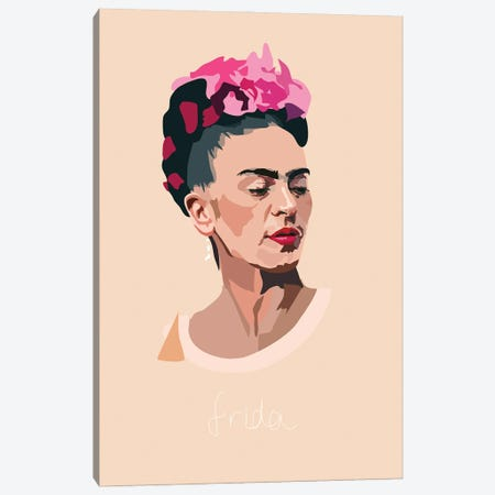 Frida Kahlo Artist Canvas Print #AMK30} by Anna Mckay Canvas Art