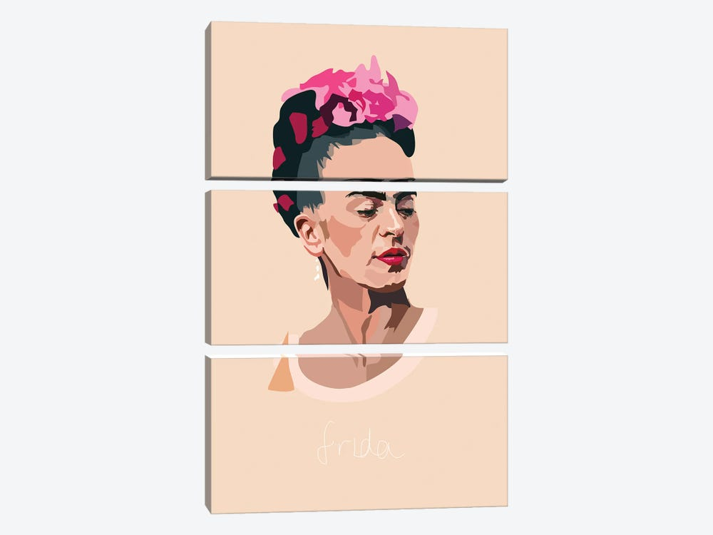 Frida Kahlo Artist by Anna Mckay 3-piece Canvas Art Print