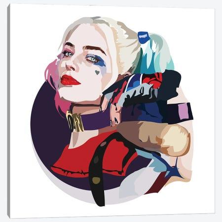 Harley Quinn Canvas Print #AMK31} by Anna Mckay Canvas Art