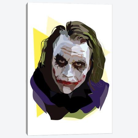 Heath Ledger Joker Canvas Print #AMK32} by Anna Mckay Canvas Wall Art