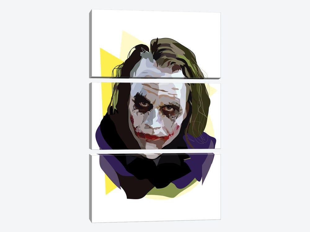 Heath Ledger Joker by Anna Mckay 3-piece Canvas Art Print