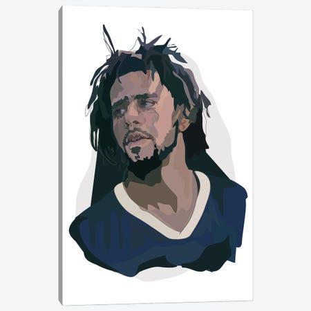 J Cole Canvas Print #AMK34} by Anna Mckay Art Print