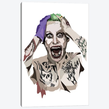 Jared Leto Joker Canvas Print #AMK35} by Anna Mckay Art Print