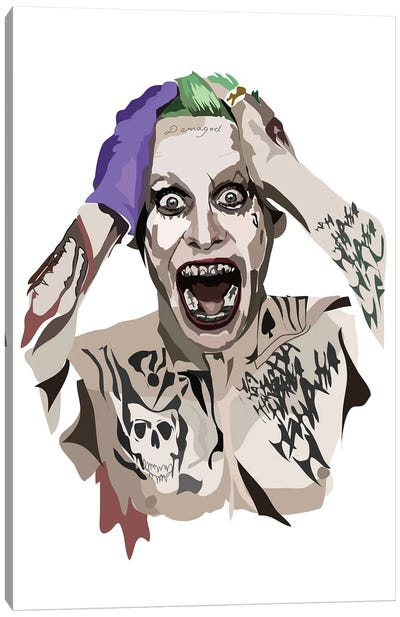 Jared Leto Joker Canvas Art Print