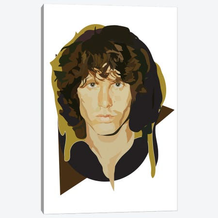 Jim Morrison Canvas Print #AMK36} by Anna Mckay Canvas Art Print