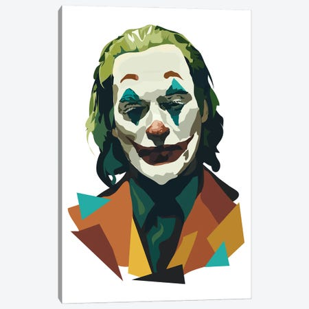 Joaquin Phoenix Joker Canvas Print #AMK38} by Anna Mckay Canvas Artwork