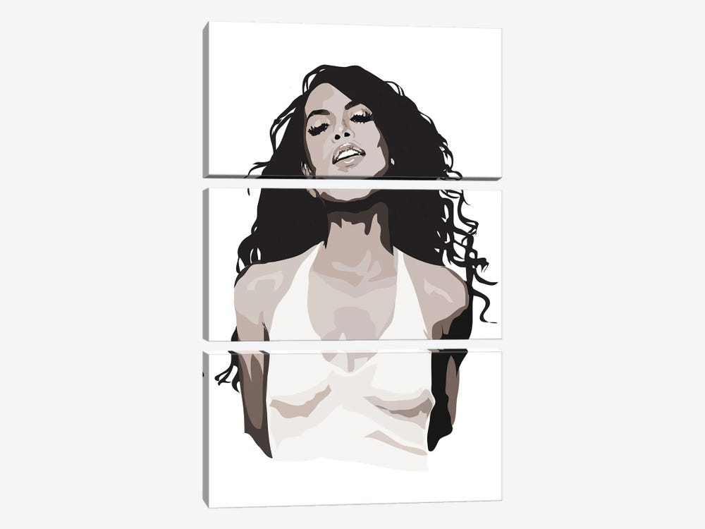 Aaliyah Black and White by Anna Mckay 3-piece Canvas Art