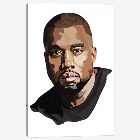 Kanye West Canvas Print #AMK41} by Anna Mckay Canvas Art Print