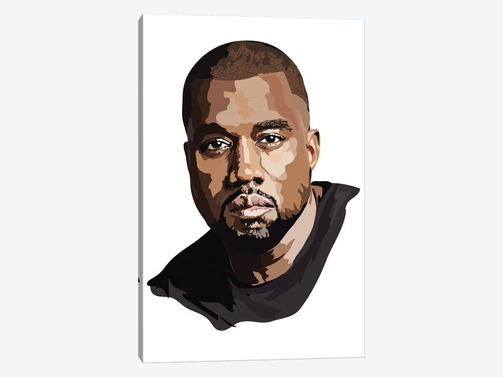 Kanye West by Anna Mckay 1-piece Canvas Print