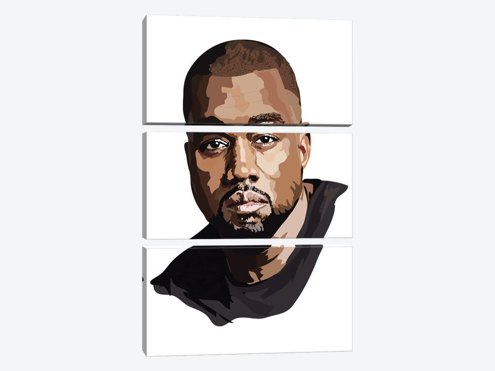 Kanye West by Anna Mckay 3-piece Art Print