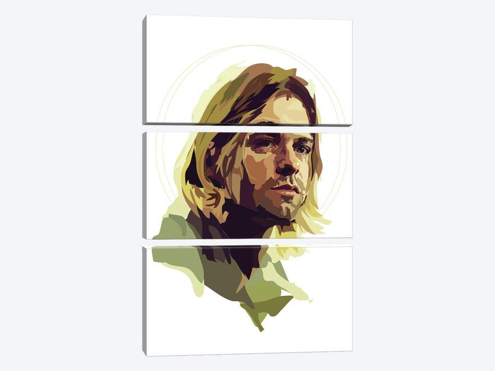 Kurt Cobain by Anna Mckay 3-piece Canvas Art