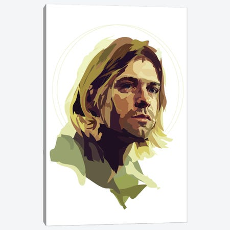 Kurt Cobain Canvas Print #AMK44} by Anna Mckay Canvas Art