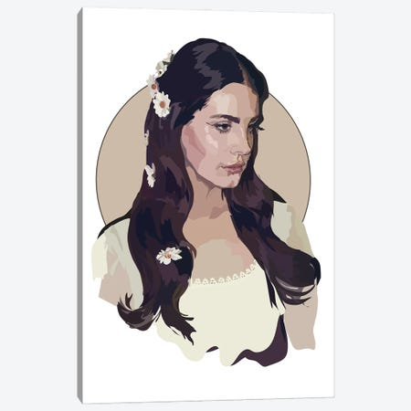 Lana Del Rey Lust for Life Canvas Print #AMK46} by Anna Mckay Canvas Artwork
