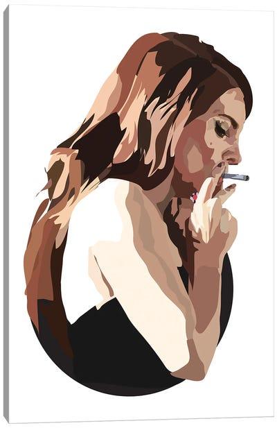 Lana Del Rey With Cigarette Canvas Art Print