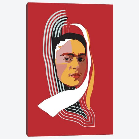 Abstract Frida Canvas Print #AMK4} by Anna Mckay Canvas Art Print