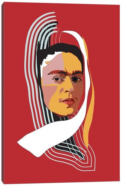 Abstract Frida Canvas Art Print