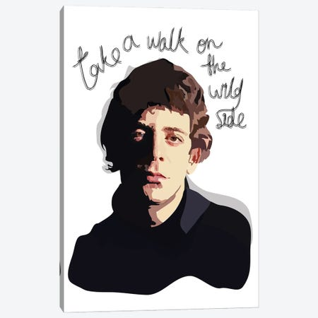 Lou Reed Canvas Print #AMK51} by Anna Mckay Canvas Artwork