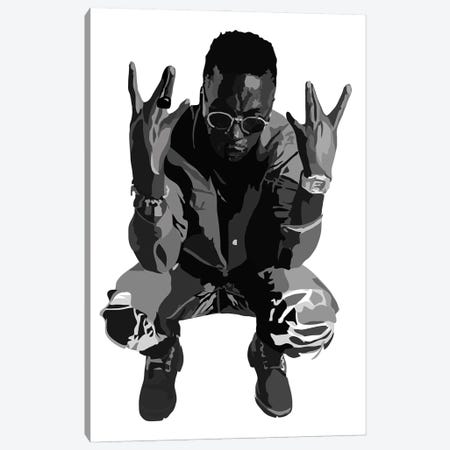 Lupe Fiasco Canvas Print #AMK52} by Anna Mckay Canvas Art