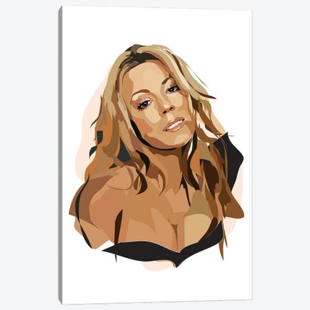 Mariah Carey Canvas Print #AMK53} by Anna Mckay Canvas Art