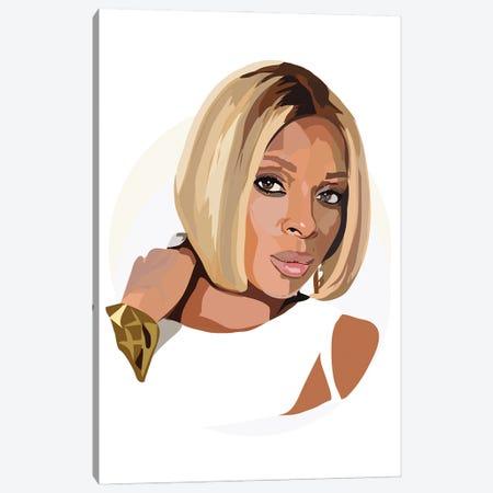 Mary J Blige Canvas Print #AMK55} by Anna Mckay Canvas Art Print