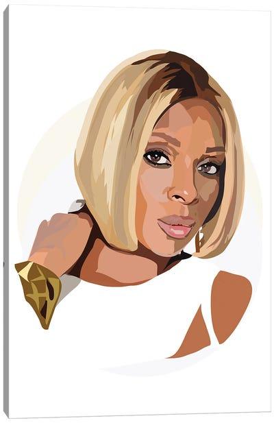 Mary J Blige Canvas Art Print