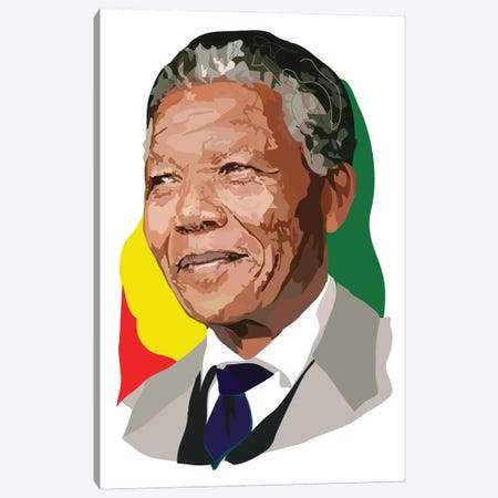 Nelson Mandela Canvas Print #AMK58} by Anna Mckay Canvas Artwork