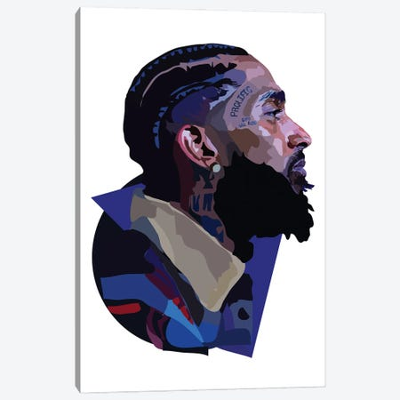 Nipsey Hussle Canvas Print #AMK60} by Anna Mckay Canvas Art Print