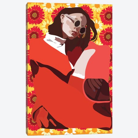 Red Summer Canvas Print #AMK63} by Anna Mckay Art Print