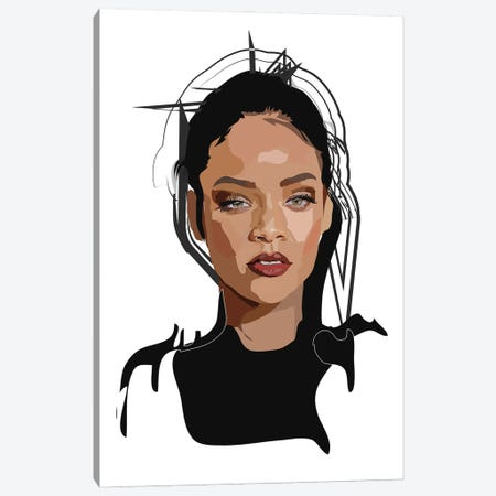 Rihanna Canvas Print #AMK64} by Anna Mckay Canvas Art