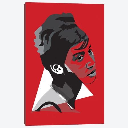 Aretha Franklin Canvas Print #AMK6} by Anna Mckay Art Print