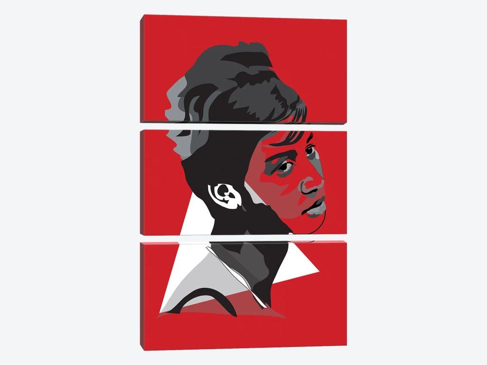 Aretha Franklin by Anna Mckay 3-piece Art Print
