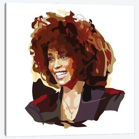 Whitney Houston Canvas Print #AMK73} by Anna Mckay Canvas Wall Art